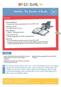 Matilda - The Reader of Books Lesson Plan