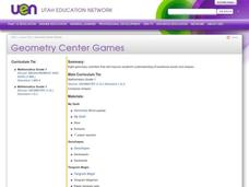Geometry Center Games Lesson Plan
