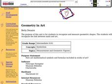 Geometry in Art Lesson Plan
