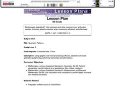 Geometry Patterns Lesson Plan