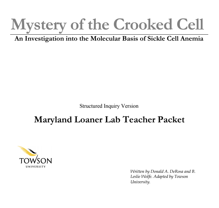 Mystery of the Crooked Cell Handouts & Reference