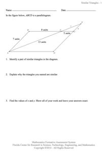 Similar Triangles Lesson Plans & Worksheets | Lesson Planet
