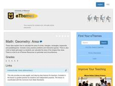 Geometry:  Area Lesson Plan