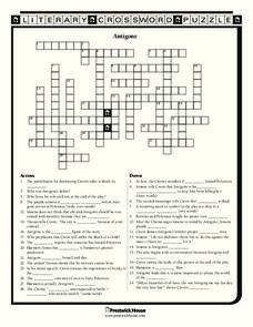Antigone Worksheet for 9th   12th Grade   Lesson Planet
