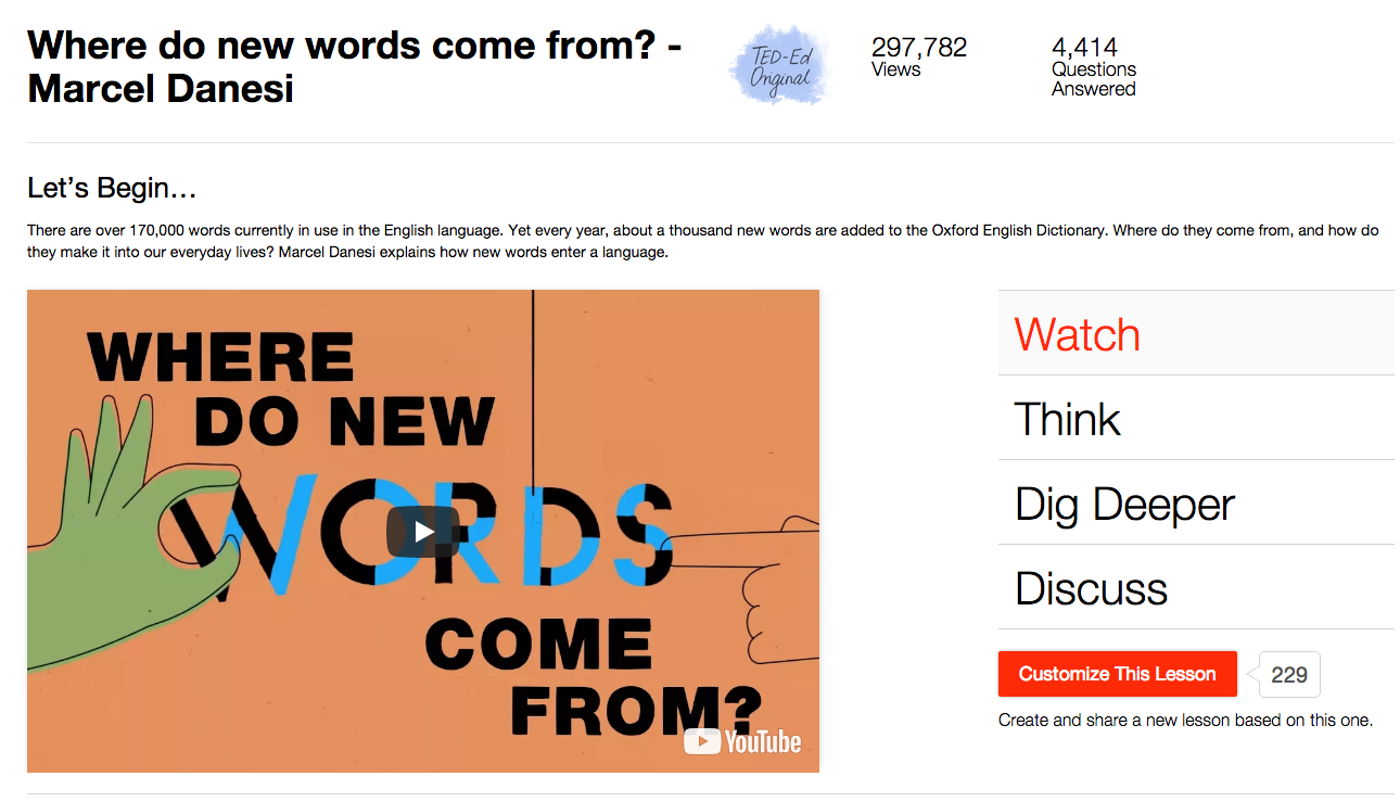 Where Do New Words Come From? Video
