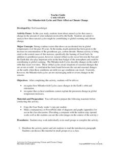 Case Study The Milankovitch Cycles and Their Affect on Climate Change Lesson Plan