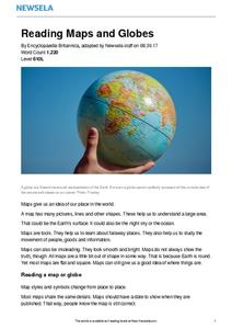Reading Maps and Globes Worksheet