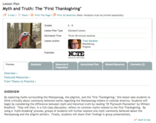 Myth and Truth: The First Thanksgiving Lesson Plan