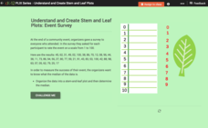 Understand and Create Stem-and-Leaf Plots: Event Survey Interactive