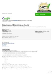 Copying and Bisecting an Angle Lesson Plan
