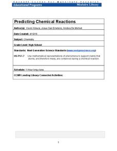 Predicting Chemical Reactions Lesson Plan