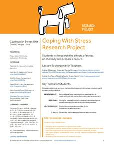 Coping With Stress Research Project Lesson Plan