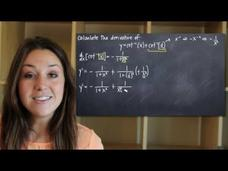 Derivatives of Inverse Trig Functions - Arccot Video