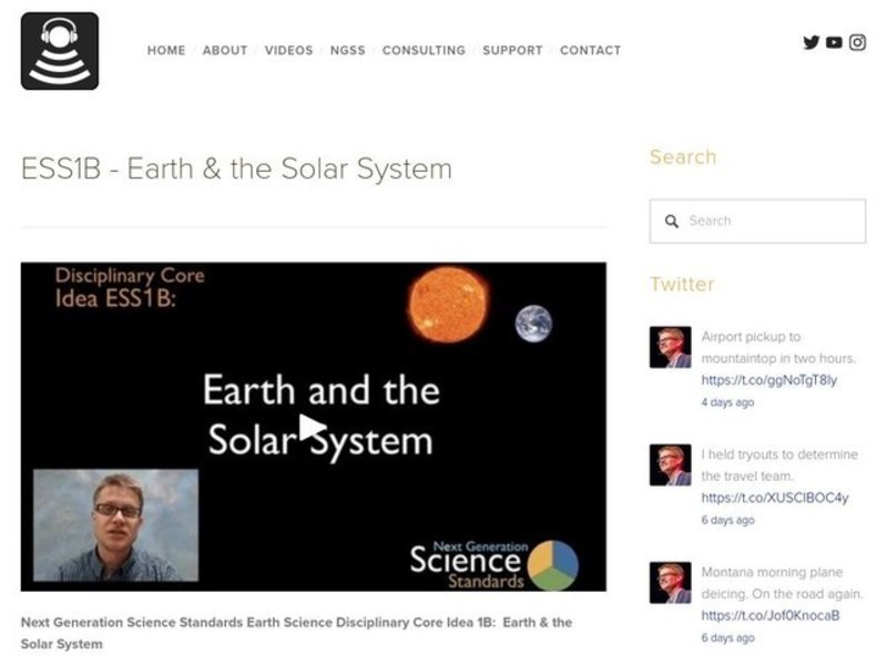 ESS1B - Earth and the Solar System Video