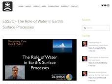 ESS2C - The Role of Water in Earth's Surface Processes Video