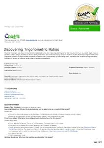 Discovering Trigonometric Ratios Lesson Plan