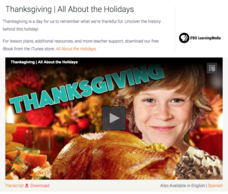 Thanksgiving | All About the Holidays Video