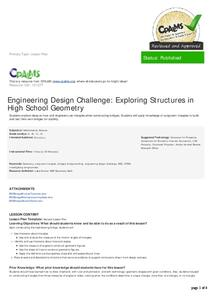 Engineering Design Process Lesson Plans Worksheets