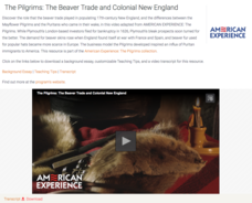 The Pilgrims: The Beaver Trade and Colonial New England Video