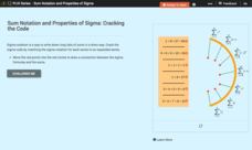 Sum Notation and Properties of Sigma: Cracking the Code Interactive