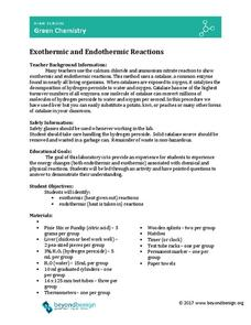 Exothermic and Endothermic Reactions Lesson Plan