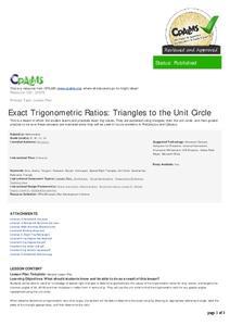 Trigonometric Identities Lesson Plans & Worksheets | Lesson Planet