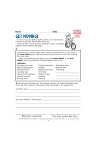 Get Moving Lesson Plan