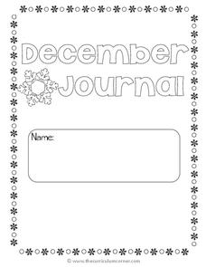 December Writing Journal Printables & Template