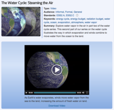 The Water Cycle: Steaming the Air Video