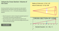 Volume by Cross Section: Volume of the Cone Interactive