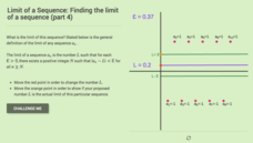 Limit of a Sequence: Finding the Limit of a Sequence (Part 4) Interactive