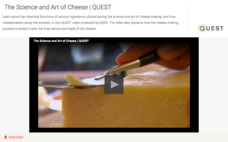 The Science and Art of Cheese Video