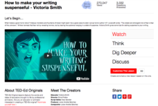 How to Make Your Writing Suspenseful Video