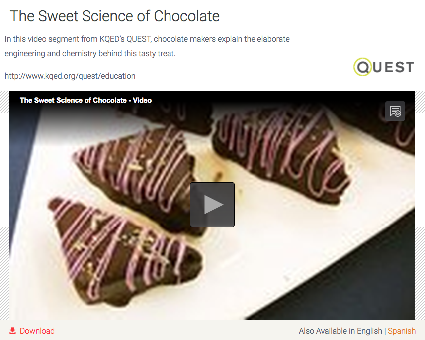 The Sweet Science of Chocolate Video