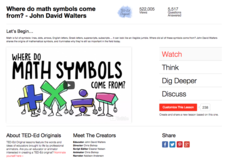 Where Do Math Symbols Come From? Video