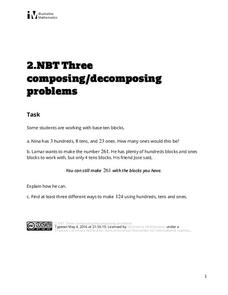 Three Composing/Decomposing Problems Assessment