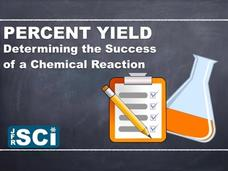 Percent Yield: Determining the Success of a Chemical Reaction Video
