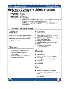 Compound Light Microscope Lesson Plans Worksheets