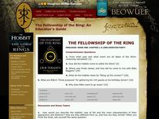 The Fellowship of the Ring Worksheet