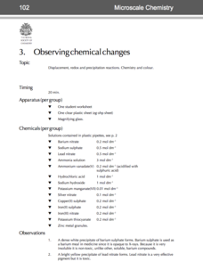 Observing Chemical Changes—Microscale Chemistry Lab Resource