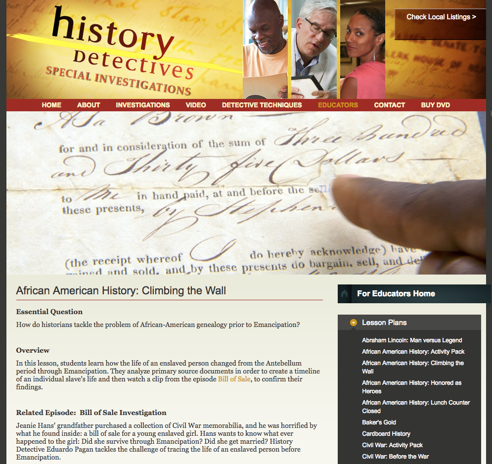 African American History: Climbing the Wall Lesson Plan