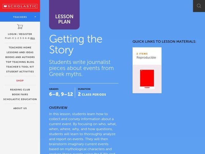 Getting the Story Lesson Plan