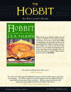 The Hobbit Activities & Project
