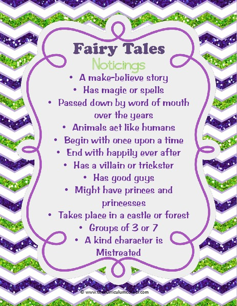 Fairy Tale Unit of Study Unit