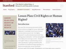 Civil Rights or Human Rights? Lesson Plan
