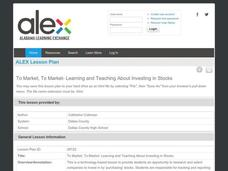 To Market, To Market—Learning and Teaching About Investing in Stocks Lesson Plan