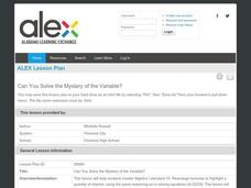 Can You Solve the Mystery of the Variable? Lesson Plan