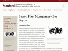 Lesson Plan: Montgomery Bus Boycott Lesson Plan