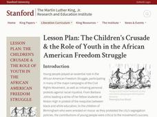 Lesson Plan: The Children's Crusade and the Role of Youth in the African American Freedom Struggle Lesson Plan