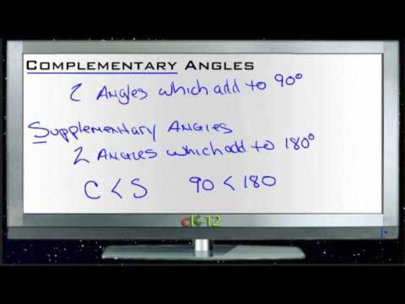 Complementary Angles: Lesson Video
